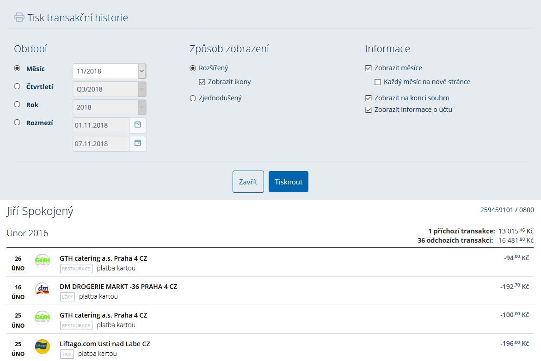 Návod: Uložení transakce do pdf