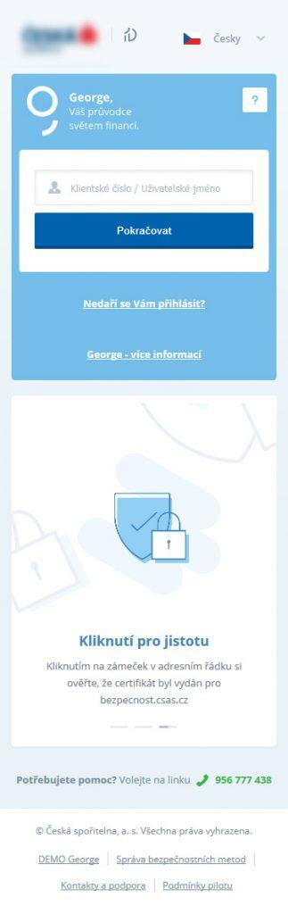 mobilní verze george