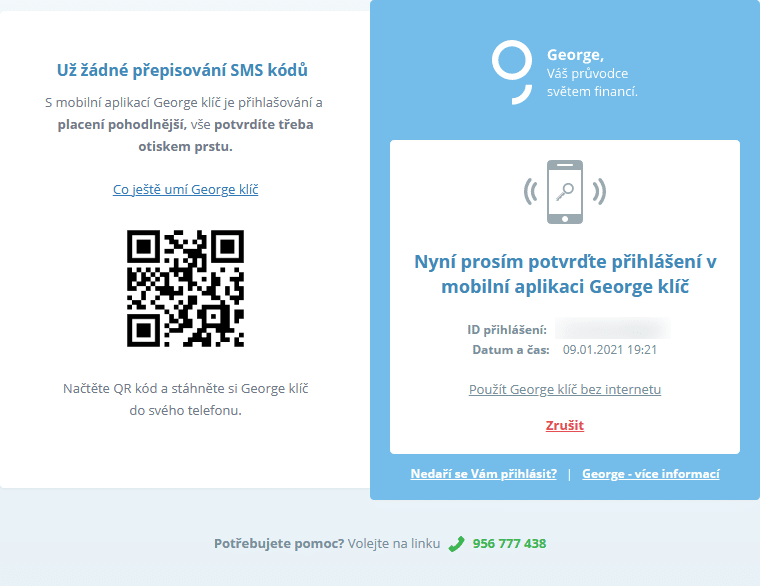 george.csas.cz a potvrzení George klíč